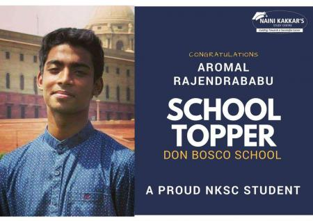 Aaromal Rajendrababu (2018 Commerce Topper, Don Bosco School)